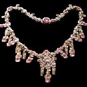 Beautiful Georgian Pink & White Necklace Circa 1800