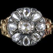 Beautiful Rose Cut Georgian Petal 18ct Ring