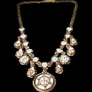 Victorian Mosaic Necklace - Beautiful Mosaics Circa 1860