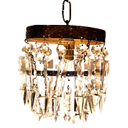 Mid-Century Bronze with Strass Spear Crystal