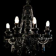 7 Arm Black Venetian Chandelier