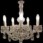 1950's All Crystal Venetian Chandelier