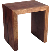 Grain Wrapped Walnut Stool/Side Table