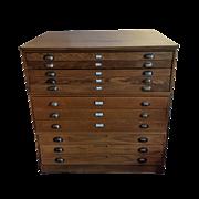 Vintage Hamilton Flat File Cabinet