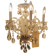 Venetian Chandelier w/ Diamond Cut Crystal