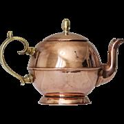 SOLD Antique Georgian Copper Teapot