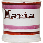 Antique Child's Pearlware Cup Mug Maria