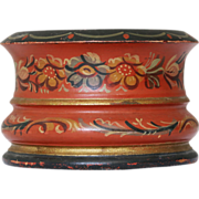 Antique Scandinavian Painted Treen Pot