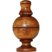 SOLD Antique English Treen Caster or Muffineer