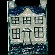Antique Staffordshire Spongeware Bank Moneybox
