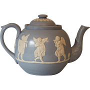 Antique English Dudson Teapot with Cherubs Angels