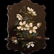 Antique Papier Mache Hand Painted Shelf