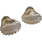 Pair of Silver Shell Nut Candy Dishes