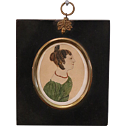 Georgian Naive Folk Portrait Miniature