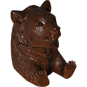 Black Forest Bear Inkwell Ink Stand