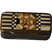 Antique French Horn Snuff Box