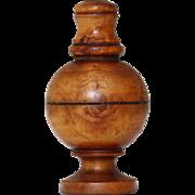Antique Georgian Treen Wooden Shaker Pepperette