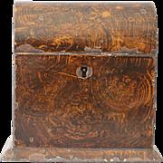 Antique Georgian Tole Decorated Tea Caddy