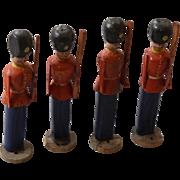Antique German Erzgebirge Naive Toy Soldiers