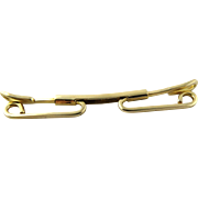 SALE 14K Yellow Gold Men's Tie Collar Bar Clip