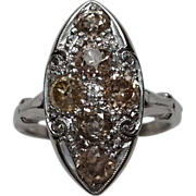 Antique Platinum European Cape Diamond Ring 2 carats Size 5.75