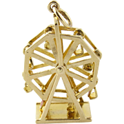 SALE Tiffany & Co 14K Yellow Gold Movable Ferris Wheel Charm