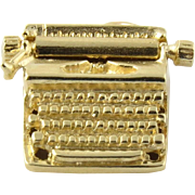 SALE Tiffany & Co 14K Yellow Gold Typewriter Charm with Movable Carriage