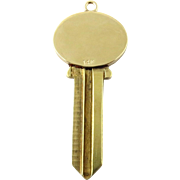 Tiffany & Co 14K Yellow Gold and Brass Key Pendant - 2 available
