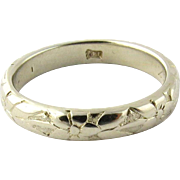 Vintage 1917 14K Yellow Gold Floral Etched Wedding Band, Size 6.5