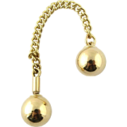 SALE Vintage 14K Yellow Gold Ball and Chain Collar Chain
