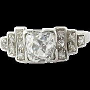 Antique Platinum and Diamond Engagement Ring Size 6