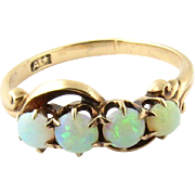 Vintage 10K Yellow Gold and Opal Ring Size 6