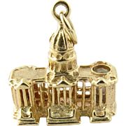 Vintage 14K Yellow Gold United States Capital Charm