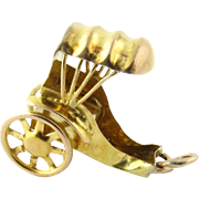Vintage 14K Yellow Gold Rickshaw / Horse's Carriage Charm