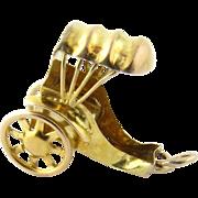 Vintage 14K Yellow Gold Rickshaw / Horse's Carriage Charm