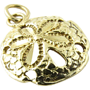 Vintage 14K Yellow Gold Sand Dollar Charm