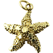 Vintage 14K Yellow Gold Seastar Starfish Charm