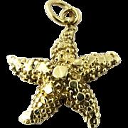 Vintage 14K Yellow Gold Seastar Starfish Charm