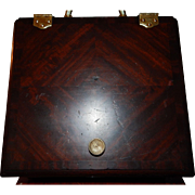 SOLD Late 19th Century Mahogany Coal Box With Brass Accessories and Pull Out Liner
