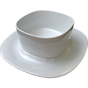 Block Langenthal Transitions White Gravy Bowl With Underplate