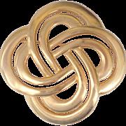 Huge Love Knot Or Celtic Knot Brooch