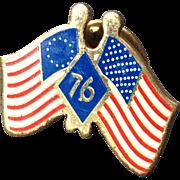 Vintage Bicentennial American Flag Lapel Pin Or Tie Tack