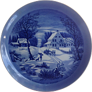 Homestead In Winter Currier And Ives Decorative Plate