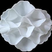 SOLD White Fabric Bread Cozy / Bun Warmer