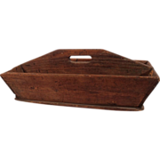 Charming Rustic Primitive Wooden Tool or Vegetable Tray