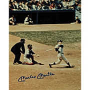 Amazing Mickey Mantle Autographed 8 x 10 Photograph.