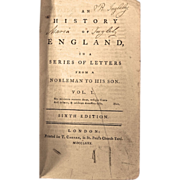 "Set of Books: ""A History of England in a series of Letters from a Nobleman ..."