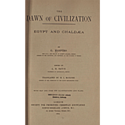 Vintage Book: The Dawn of Civilization, Egypt and Chaldea, Dated 1894, Maps!