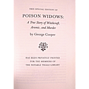 Book: Poison Widows: A True Story of Witchcraft, Arsenic & Murder. Special Edition!