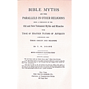 Book: Bible Myths and their parallels in other Religions. Dated 1948